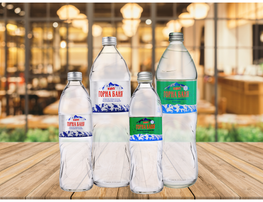 Мineral and carbonated water, Glass bottles