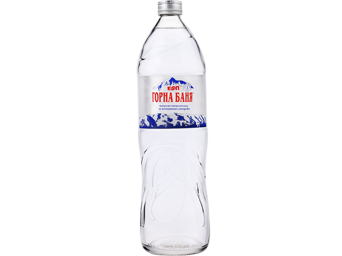 MINERAL WATER, GLASS BOTTLE - 1 L