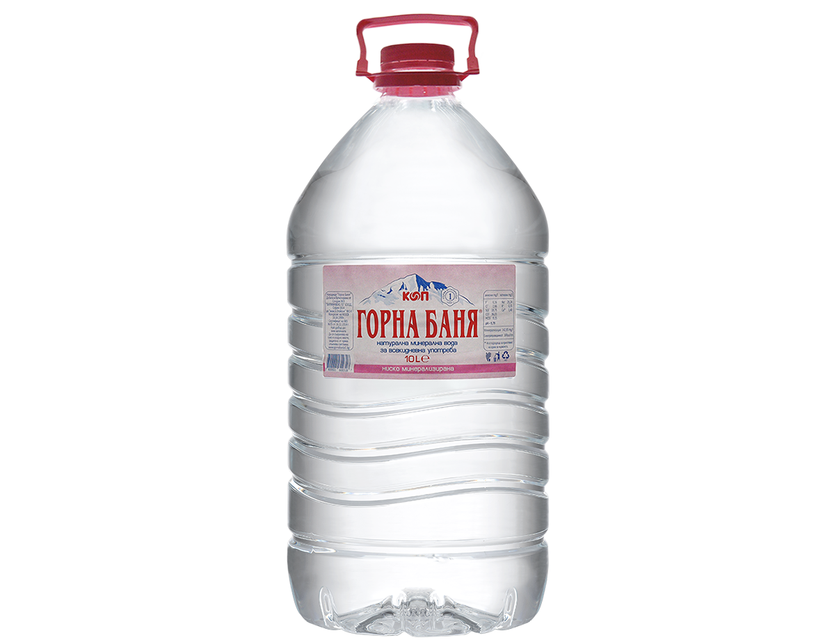 MINERAL WATER, PINK LABEL - 10 L